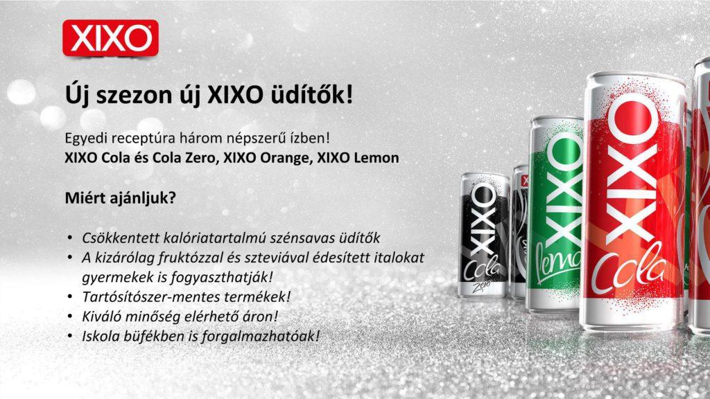 Új szezon, új XIXO üdítők!