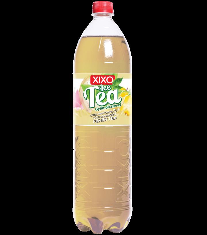 XIXO ICE TEA CSILLAGGYÜMÖLCS - LÓTUSZVIRÁG ÍZŰ FEHÉR TEA 1,5L