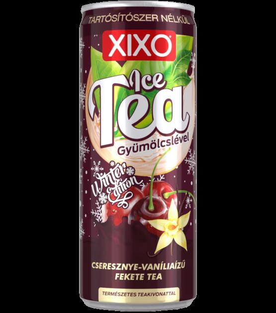 XIXO ICE TEA CSERESZNYE - VANÍLIA ÍZŰ FEKETE TEA 0,25L