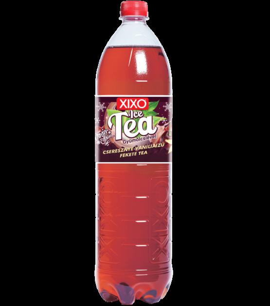 XIXO ICE TEA CSERESZNYE - VANÍLIA ÍZŰ FEKETE TEA 1,5L